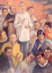 the blessed lorenzo ruiz (beatified by pope john paul II), the first filipino saint, together with the other martyrs.