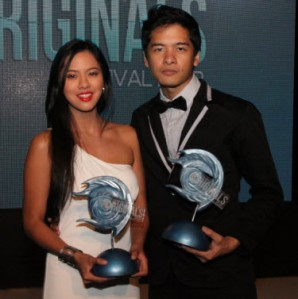 mara lopez and alex vincent medina: best actress and best actor for cinema one filmfest 2012 awards night...