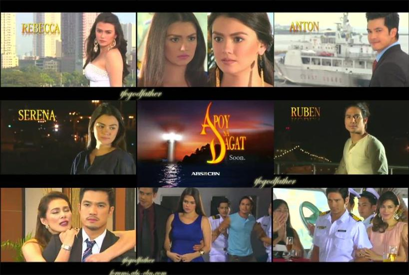 "the cast of ""apoy sa dagat"", a new t.v. teleserye on channel 2. soon!"