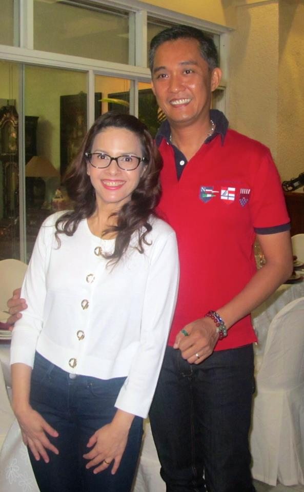 "director fm reyes with wife rita avila.:""lucky charms"" of philippine television."