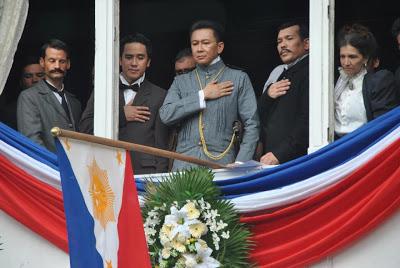 """a historical scene in the movie """"El Presidente""""."""