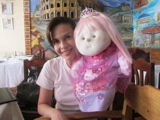 rita avila with her doll mimay.