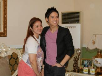 gerald with MRS.CORAZON EDEJER, who sponsored a dinner for everyone.