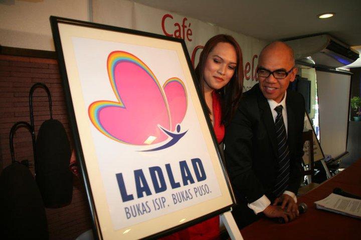 Ms. Bemz Benedito, ang sinta ng Pinoy LGBT's, kasama ang senior adviser ng Ladlad na si Mr. Boy Abunda.