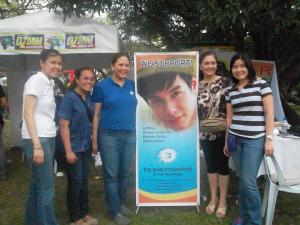 aj's supporters and friends from eye bank foundation in a charity event at u.p. diliman.