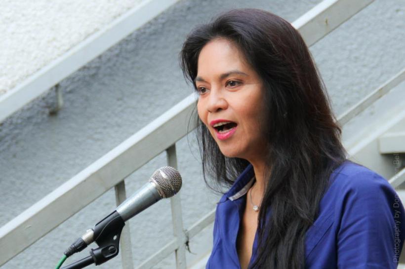 """mama maribel in her very beautiful speech to the :adamsonians"""","""