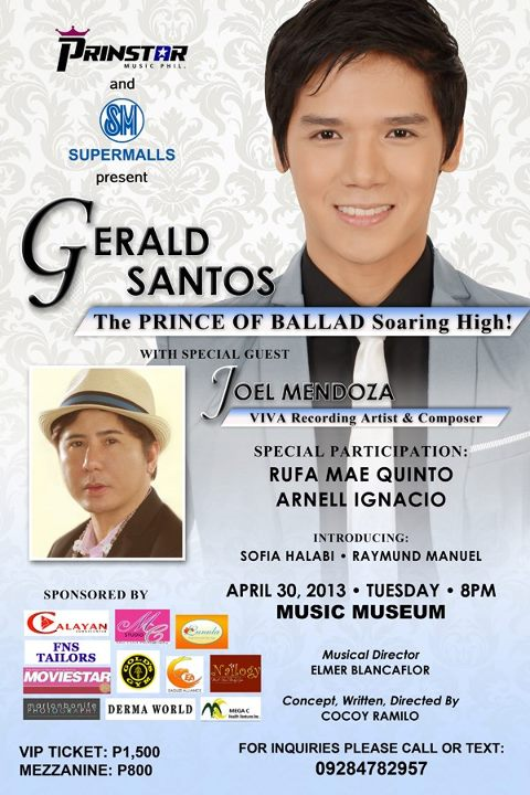 the poster of gerald's new concert.