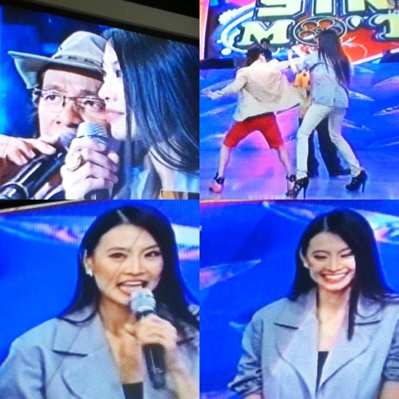 "WHEN KIM ATIENZA INTERVIEWED JANICE HUNG IN ""SHOWTIME""."