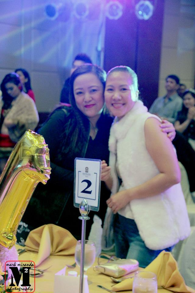 "the very elegant and royal mrs. elaine tanada-coronel, poses with dr. luzruth almeda- one of the judges that evening at the ""psf idol search""."