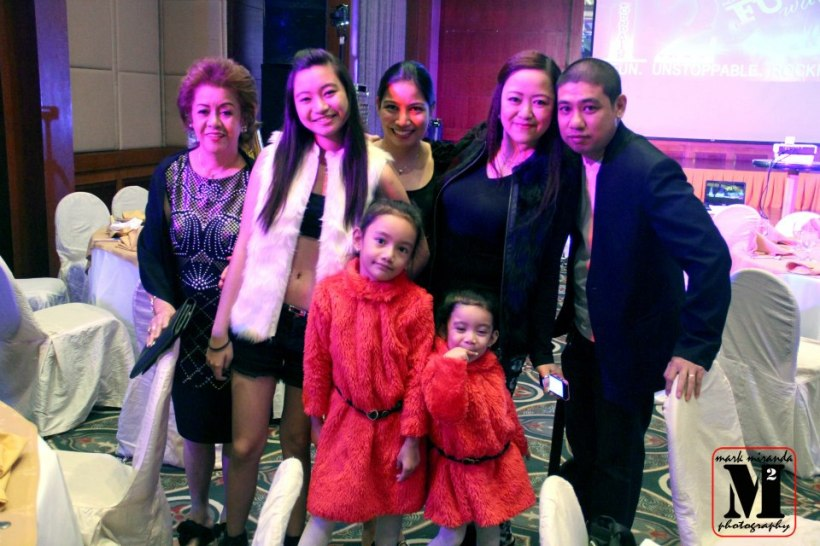 the beauteous mom of vince tana-ms. tanada, poses with the tanada-coronel family.