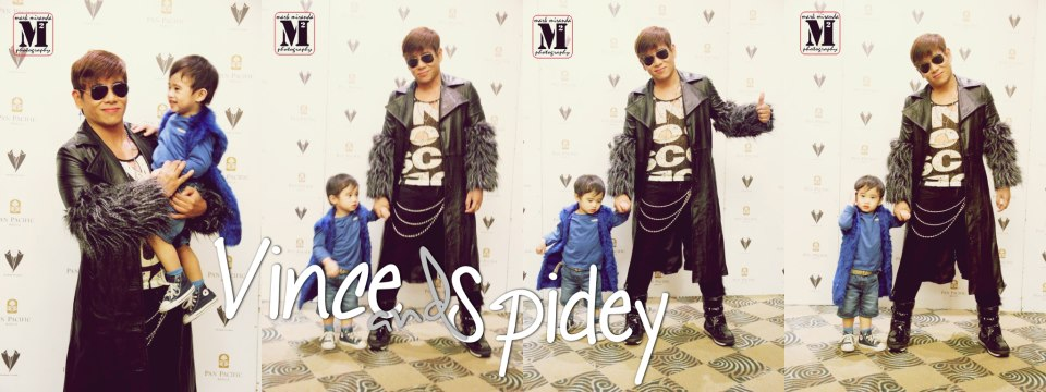 "vince tanada with his baby son spidey at the psf event ""moving furward"" last march 20 at pan pacific hotel."