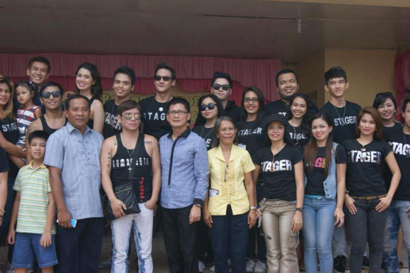 the stagers, when they visited a school in dumaguete province