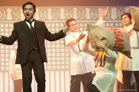 "patrick libao as dr. jose rizal in ""joe, the rocksical"""