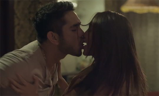 gerald anderson's torrid kissing scene with angel aquino in the film
