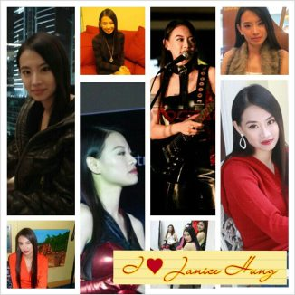 a fan's picture collage on janice