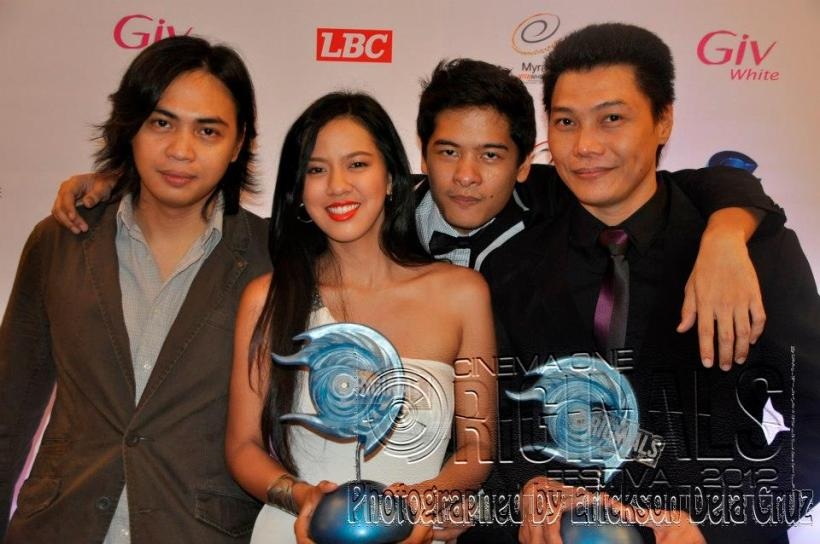 mon and mara together with direk ato bautista (far left) and alex medina (second from right)