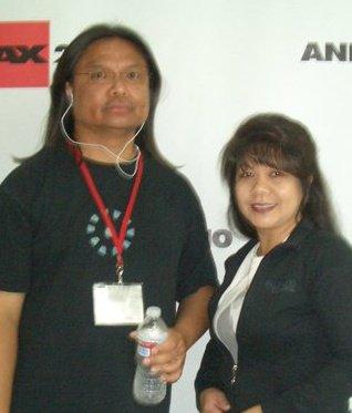 mrs. almario with husband