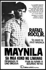 """an old poster of """"maynila: sa kuko ng liwanag"""""""