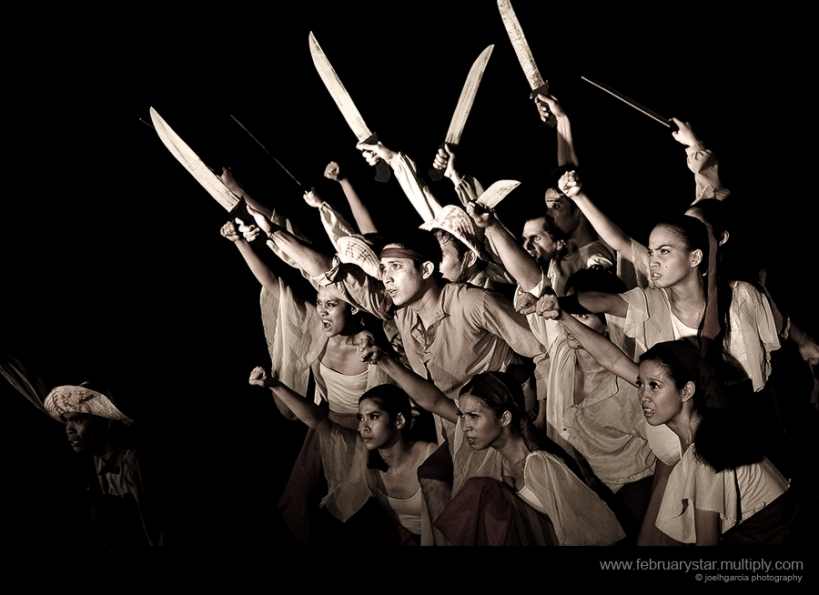 a separate stage performance on andres bonifacio's life (not psf's)