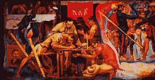 a painting scene in bonifacio's historical life- the KKK.