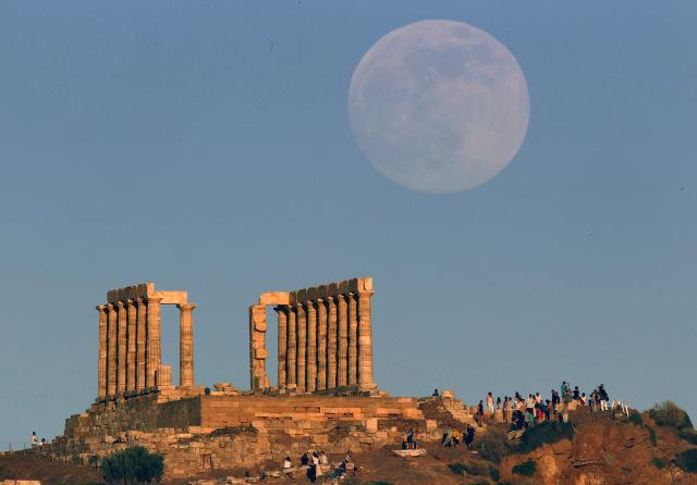 The temple of Poseidon, ancient Greek god of the seas, in Cape Sounion, Greece.Reuters / Yannis Behrakis