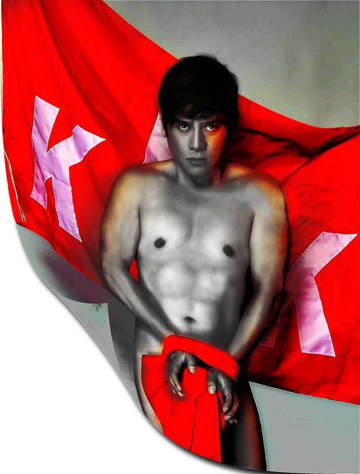 "vince: so sexy and daring in the movie ""otso"", but bloody and gruesome in his forthcoming play ""bonifacio, isang zarzuela"""