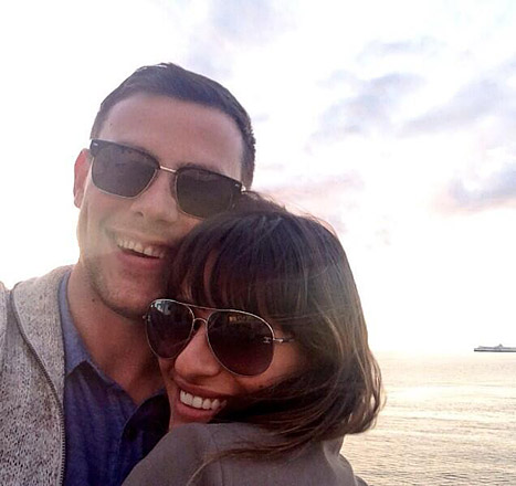 lea michelle shared this photo of her and cory on Twitter and Instagram only recently after the actor's untimely death