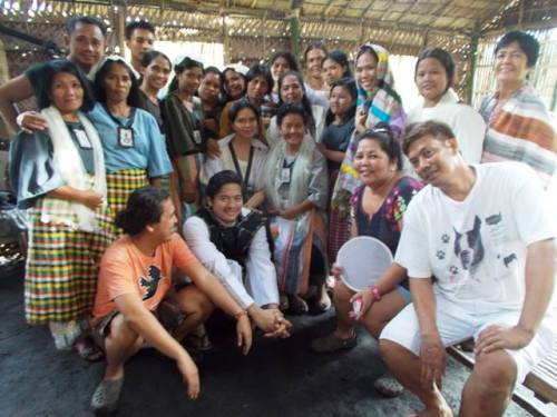 """maribel with the fellow cast of """"angustia"""""""