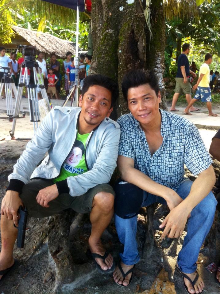 mon confiado with fellow actor jhong hilario