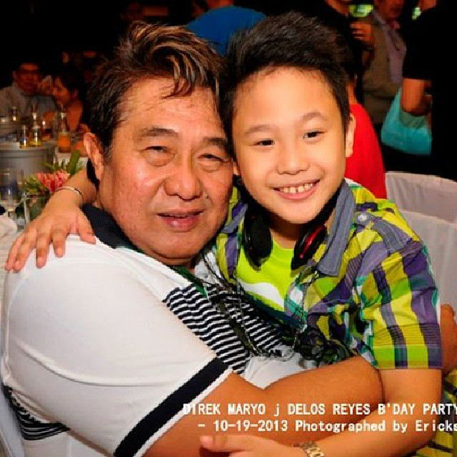 miggs with his mentor- direk maryo j., at the birthday bash
