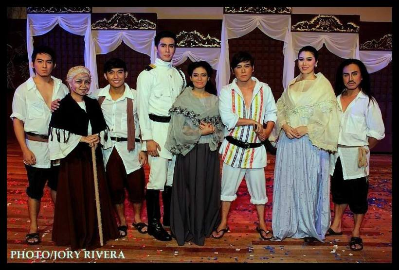 "vince with the major cast of ""bonifacio: isang zarzuela"""