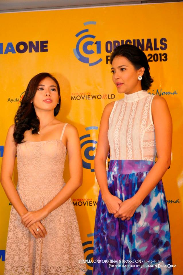 chanel with lead actress alessandra de rossi during thre press conference of cinema one originals fest held recently