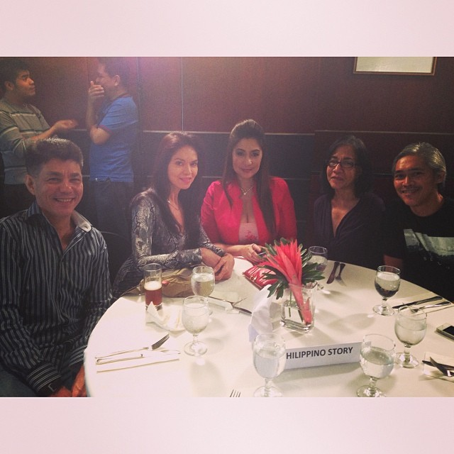 director benjamin garcia, ma. isabel lopez, ms. vivian velez with indie artists