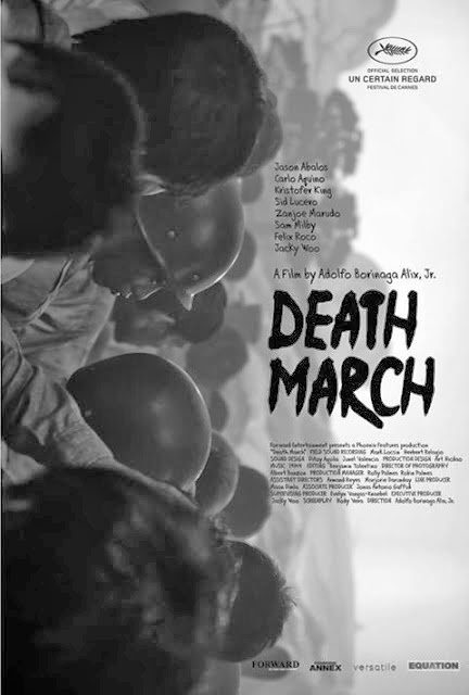 "poster of the film ""death march"", the closing film at the recently-concluded cinema one originals fest."