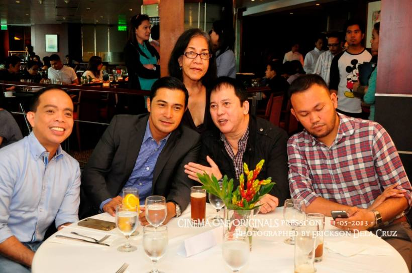ronald arguelles, cesar montano, phillip salvador, adolf alix, jr. and evelyn vargas (standing at the back)