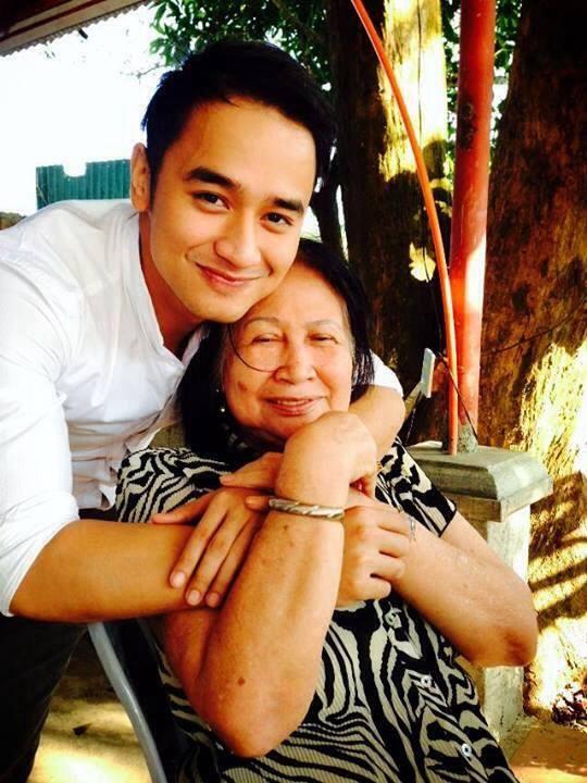 jm with his grandma