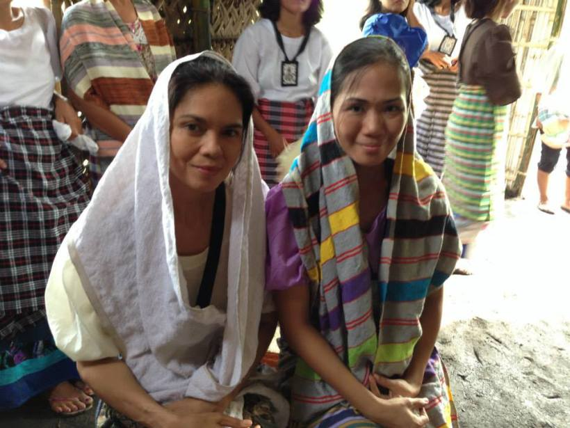 "the religious ladies of ""angustia"", in the historical land of the Bicol region."