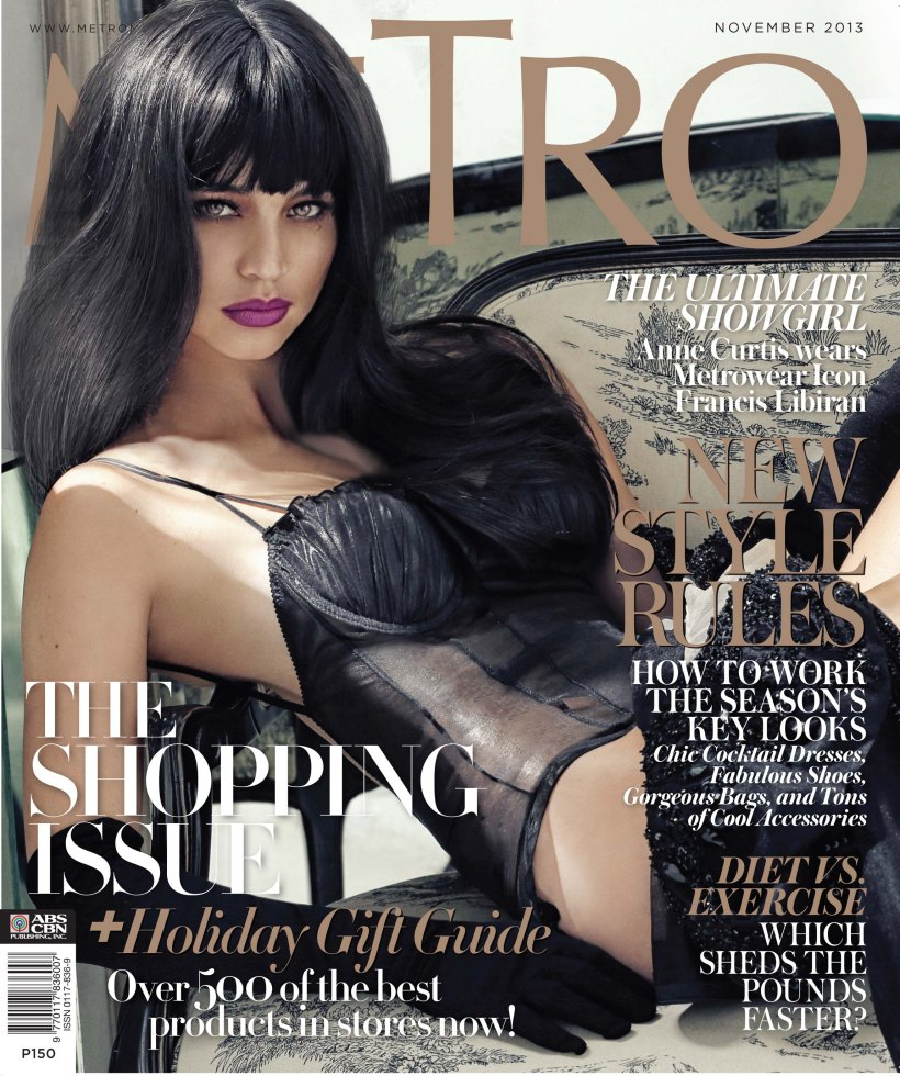 ANNE CURTIS ON THE COVER OF METRO MAGAZINE