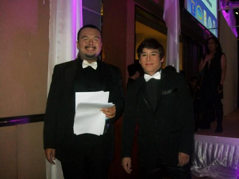 mr. vince tanada with stager Jp Lopez at the CESB event in Tagaytay City