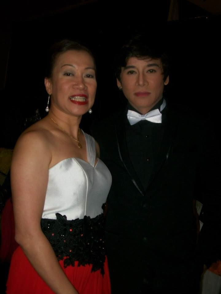 vince with a V.I.P.- ma'm tonette almores of career executive board.