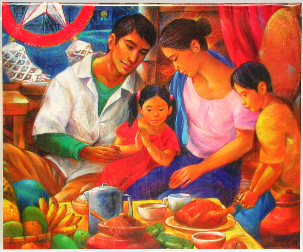 A FILIPINO FAMILY CELEBRATING CHRISTMAS