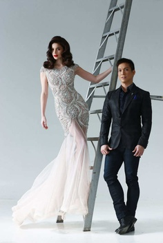 MISS ANNE CURTIS WITH DESIGNER FRANCIS LIBIRAN