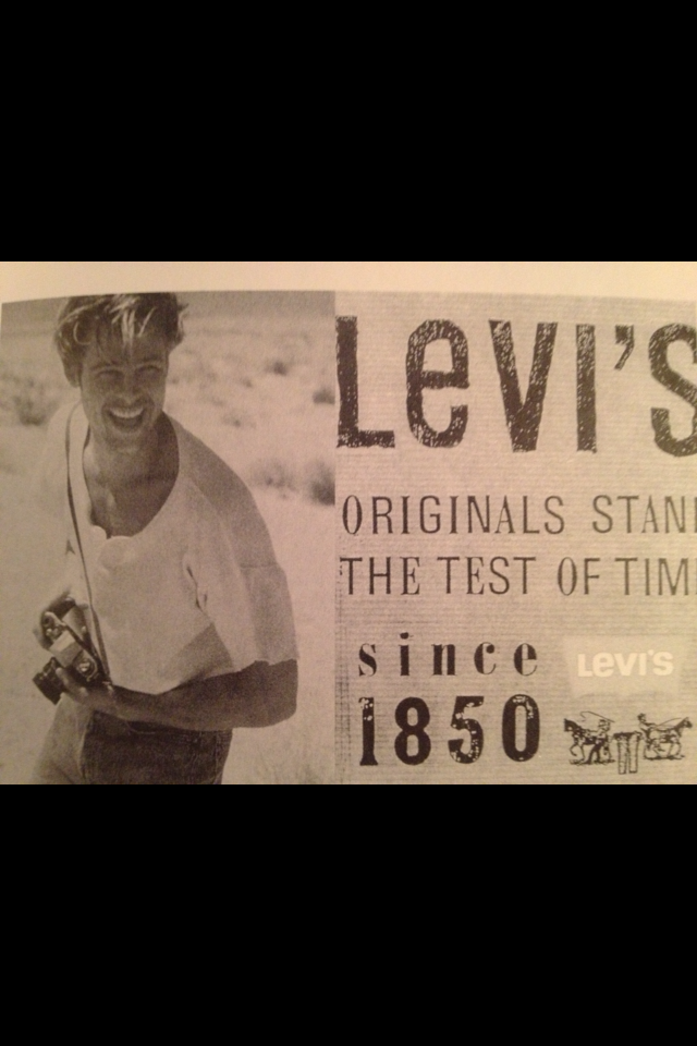Brad Pitt as a Levi's model known by the name Bradley, before he became an actor.