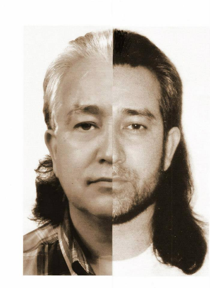 don: an indian apache of origin, mixed with korean blood. his two faces (then and now) shown here...