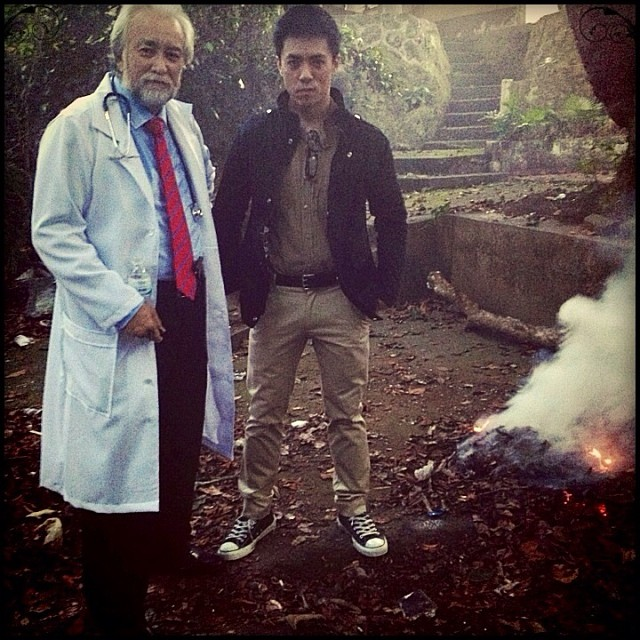"lance raymundo with don gordon bell in his new film ""gemini"""