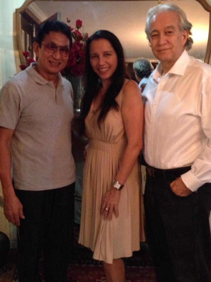 DON WITH MS. CLARA RAMONA, WORLD-RENOWNED FLAMENCO DANCER, TOGETHER WITH DON'S BUDDY JOHN SILAO