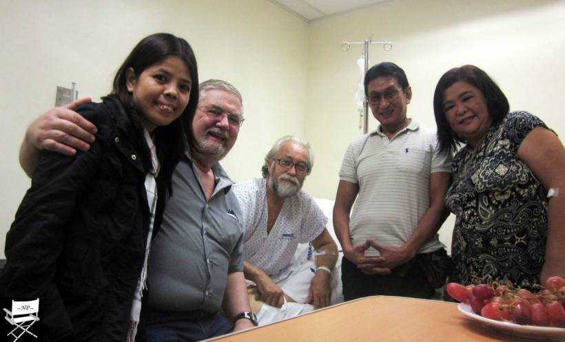 DON BEING VISITED BY FRIENDS AT HIS HOSPITAL ROOM BEFORE HE WAS RELEASED AND NOW ON HIS ROAD TO FULL HEALTH RECOVERY
