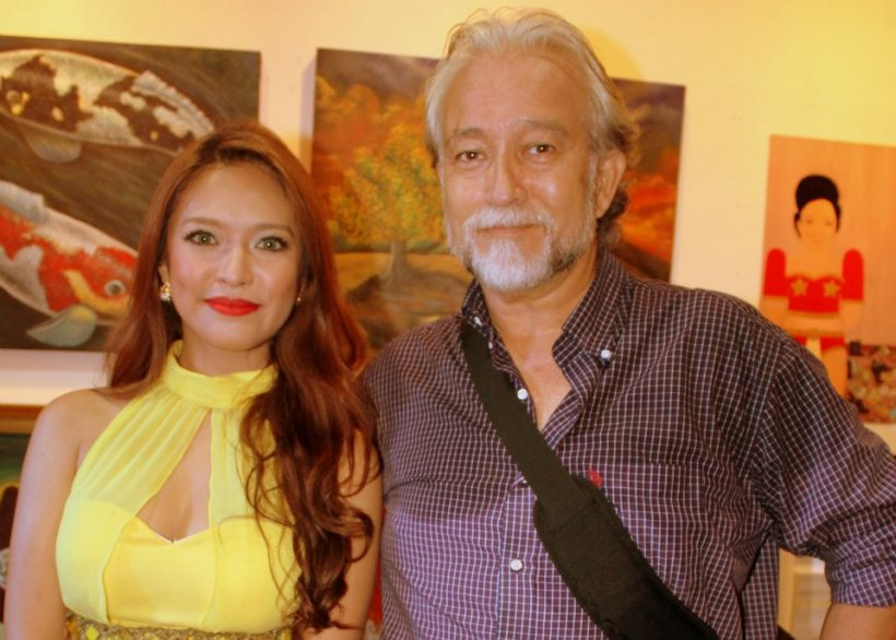 don with actress-beauty queen bangs garcia during last year's ARTS & BEAUTY 2 by maria isabel lopez