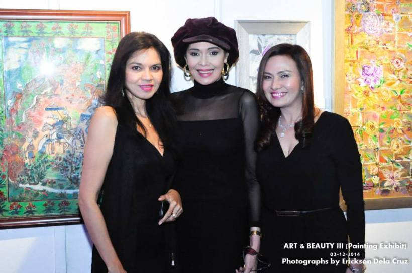 maribel lopez, evangeline pascual (center), and friend precy yulo