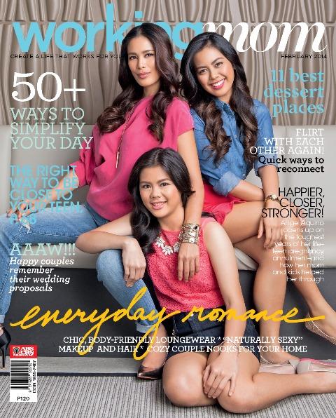 Working Mom February issue featuring Angel Aquino